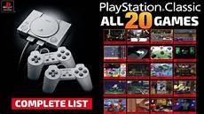 sony ps1 ps classic mini complete list all the