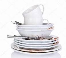 vaisselle sale isol 233 sur blanc photographie belchonock