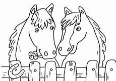 Ausmalbilder Gratis Ausdrucken Pferde Ausmalbild Pferde Zwei Pferde Zum Ausmalen Kostenlos