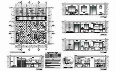 Kitchen Plan Elevation And Section by House Kitchen Elevation Section Plan And Furniture