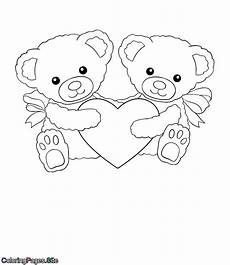 s two bears holding a coloring page