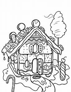 35 gingerbread houses coloring sheets mihrimahasya