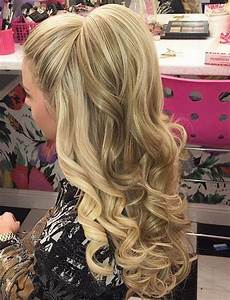 half up bump curly homecoming hairstyles hairstyles and homecoming hairstyles