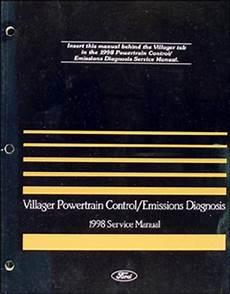car repair manuals online pdf 1998 mercury villager engine control 1998 mercury villager electrical and vacuum troubleshooting manual