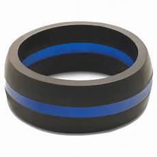 qalo men s thin blue line silicone wedding ring