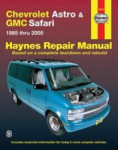 auto manual repair 1995 chevrolet astro interior lighting 1985 2005 chevy astro gmc safari mini van haynes repair manual