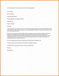 application letter sle for fresh graduate pdf cover