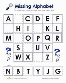 abc fill in the blank alphabet worksheets free