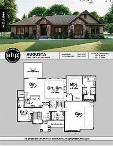 augusta 1 story traditional house plan craftsman house