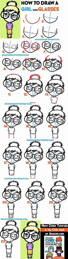 How To Draw A With Glasses Illustration Easy