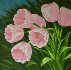 fiori in pittura professione donna schemi per il punto croce tulipani rosa