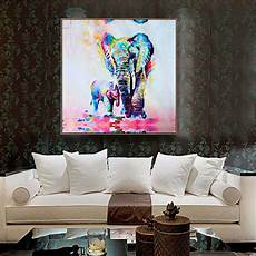 unframed canvas print home decor wall art picture poster watercolor elephant new ebay