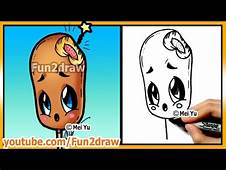 Learn To Draw Easy Things  Cute Food Corn Dog Drawings