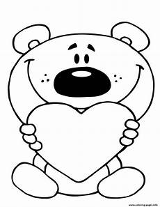 teddy holding a coloring pages printable