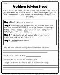 problem solving steps worksheet social problem solving worksheets free by counselorchelsey tpt