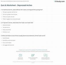 arch worksheets 19288 quiz worksheet depressed arches study
