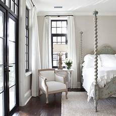 i love the black trim with the light taupe walls and white linens jolene smith interiors in