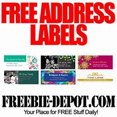 free address labels for the holidays freebie depot