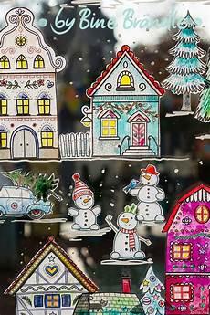 die gro 223 e winterstadt weihnachten vorlagen kreidestifte