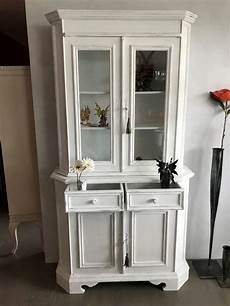 kommode vitrine antike kommode mit vitrine vintage weiss kaufen auf ricardo