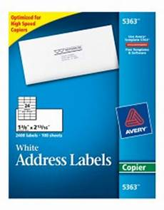 white mailing labels 5363