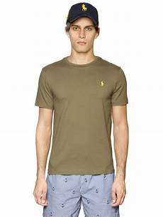 polo ralph custom fit logo cotton t shirt in