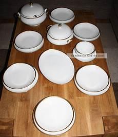tafelservice 12 personen wei 223 mit goldrand 33 teilig