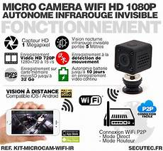 infrarouge wifi kit microcam w 30a kit micro 233 ra wifi hd 1080p