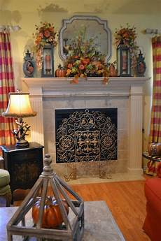 Decorations For Fireplace by Kristen S Creations Fall Mantel 2013