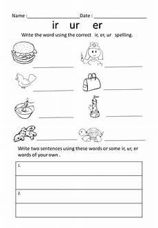 ur spelling worksheets 22595 er ur ir worksheet teaching resources