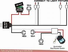 12v wiring harness kit strobe remote control switch for led light bar 1 lead ebay