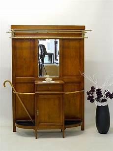 garderobe wandgarderobe antik um 1920 eiche mit spiegel