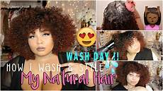 natural hair wash day how i wash style my curly hair youtube