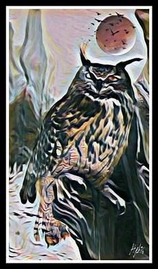 Paling Bagus 17 Gambar Burung Hantu Lukisan Richa Gambar