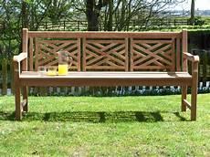 oxford cross weave back teak garden bench 180cm