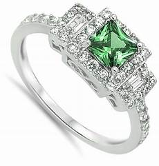 square ring new 925 sterling silver wedding engagement