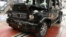 euroncap crashtest die neue mercedes g klasse 2018