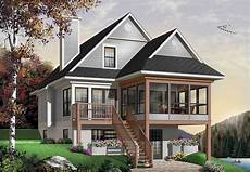 lake house plans for sloping lots plan 21571dr four seasons sloping lot cottage in 2020