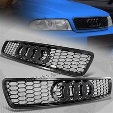for 1996 2001 audi a4 s4 black abs honeycomb rs4 style front hood grille grill ebay