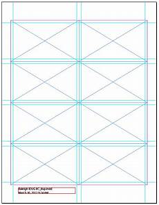 8 5 x 11 business card template indesign document using document grid and visible guides to