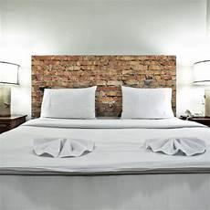 sticker tete de lit mur de briques d 233 coration trompe l