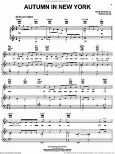 sinatra autumn in new york for voice piano or guitar interactive sheet music