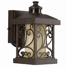 progress lighting cypress collection wall outdoor 1 light forged bronze motion sensor