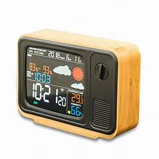 Digital Alarm Clock Temperature Humidity Weather by Digital Usb Wifi Weather Forecast Station Desk Bamboo