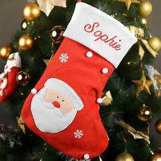 Personalized Embroidered Name Santa