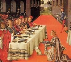 banchetto medievale immagini d autore chi non mangia in compagnia