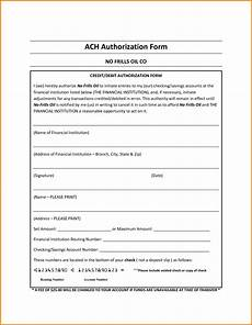 ach debit authorization agreement form excellent ach