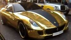 Gold Plated 599 Gtb Fiorano Roars On The Streets