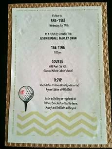 Golf Themed Wedding Invitations