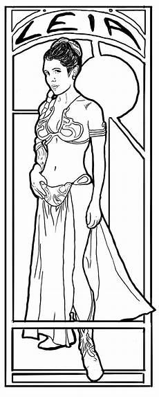 Ausmalbild Prinzessin Leia Princess Leia To Color Princess Leia Coloring